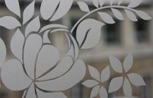 Декоративное стекло Стекло с пескоструйным напылением. Можно нанести любой рисунок из каталога или сделать рисунок по Вашим эскизам.